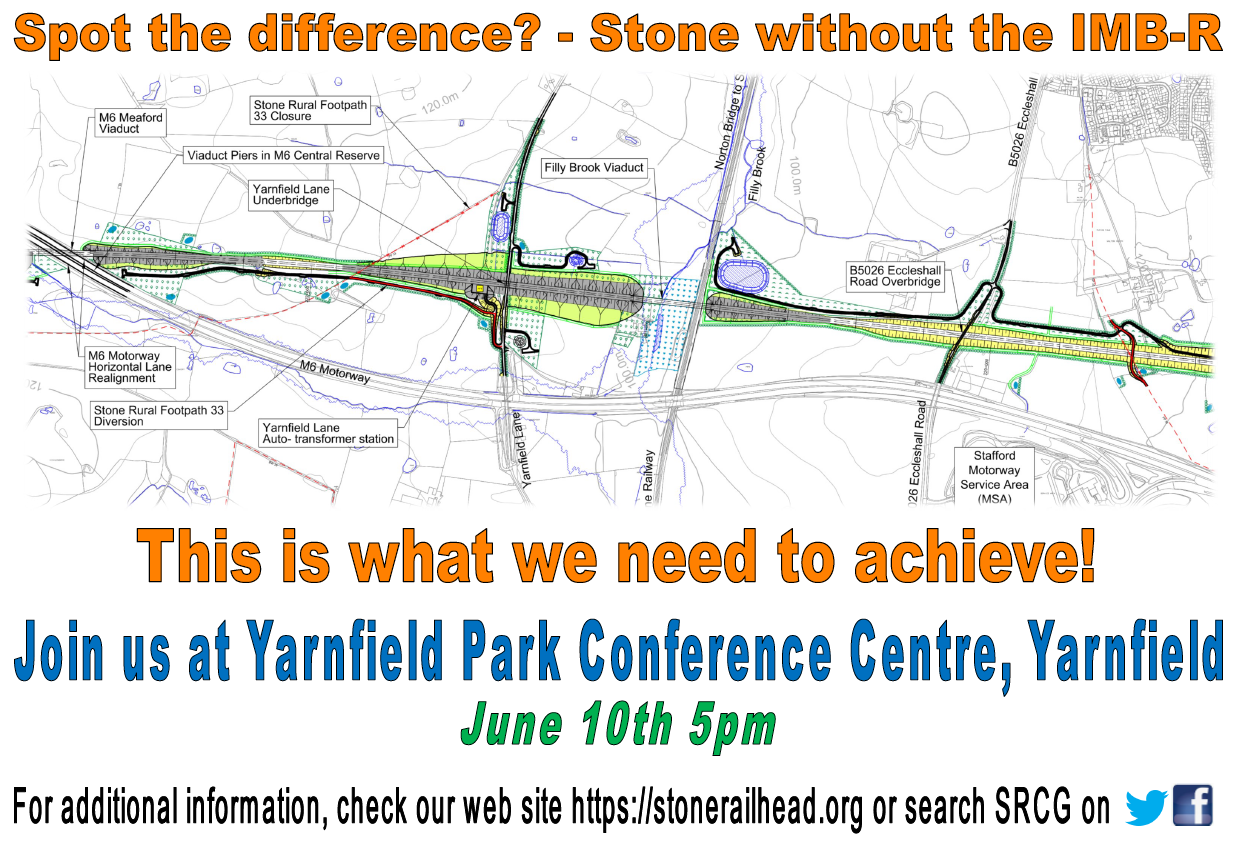Public Meeting at Yarnfield Park Conference Centre at 17:00 on 10th